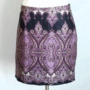INC International Concepts Paisley Mini Skirt